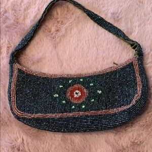 Moyna Vintage Hand Beaded Clutch Bag EUC